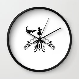 Girl with feather M Wall Clock