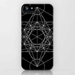 Metatron's Cube Black & White iPhone Case