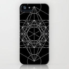 Metatron's Cube Black & White iPhone Case