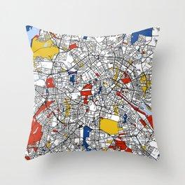Berlin mondrian Throw Pillow