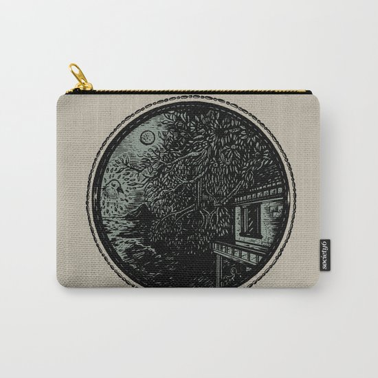 Miniature Circle Landscape 1: Morning Vision Carry-All Pouch