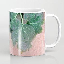 Pink Green Leaves Coffee Mug