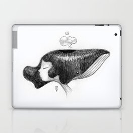 whale women Laptop & iPad Skin