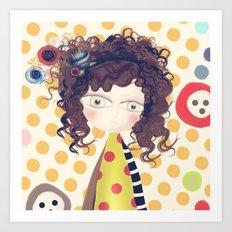Yashica Abstract Circles Paris Portrait Art Print