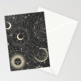 Space patterns Stationery Cards