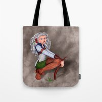 tesla Tote Bags featuring Tesla by Thedustyphoenix