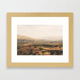 San Bernadino Valley Framed Art Print