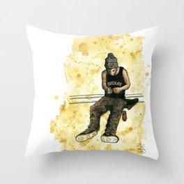 Chocolate Skater Throw Pillow