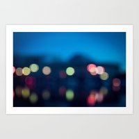 bokeh Art Prints featuring Bokeh by Ashley Hirst Photography