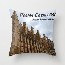 Palma Cathedral Majorca Spain Throw Pillow