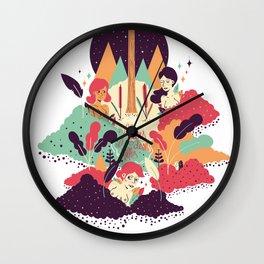 Fleurs des Villes Wall Clock