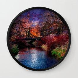Concept Baden-Wuerttemberg : River Rottum through Laupheim Wall Clock