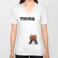 the thing V-neck T-shirts featuring Thing by ToppArt