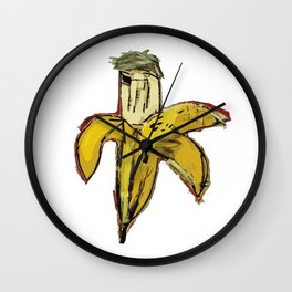 Basquiat Dinosaur Banana Wall Clock
