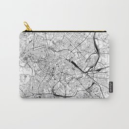 Rome White Map Carry-All Pouch