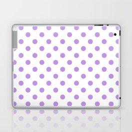 Small Polka Dots - Light Violet on White Laptop & iPad Skin