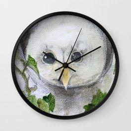 Baby Owl Wall Clock