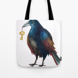 Bird with a Key Tote Bag