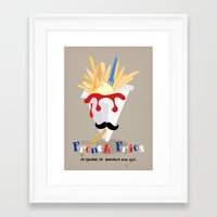 french fries Framed Art Prints featuring French Fries by Elisandra