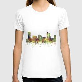 Milwaukee, Wisconson Skyline SG - Safari Buff T-shirt