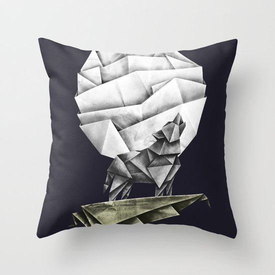 Wolfpaper Throw Pillow