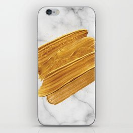 Gold on Marble iPhone Skin