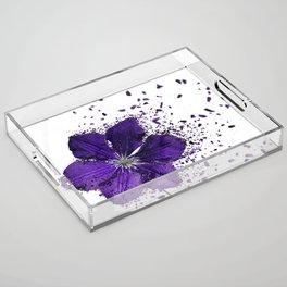 Purple flower Explosion Acrylic Tray