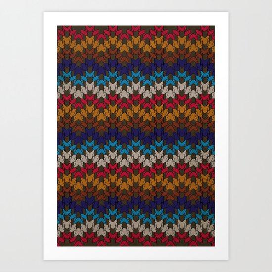 Daddy's Sweater Art Print