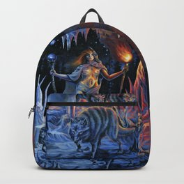Two of Wands - Woman & Wolves Backpack