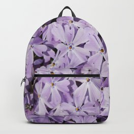 Cluster of small purple flowers Backpack