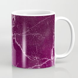 Abstract burgundy white gradient marble Coffee Mug