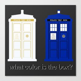 #thetardis Canvas Print