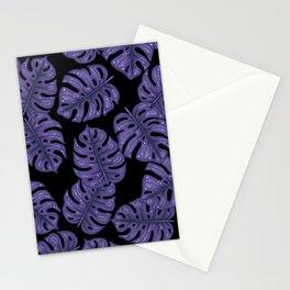Ultra violet monstera Stationery Cards