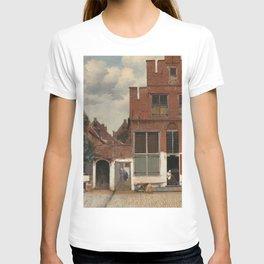 Johannes Vermeer - The little street T-shirt
