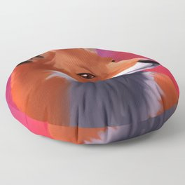 Fox Painting Floor Pillow