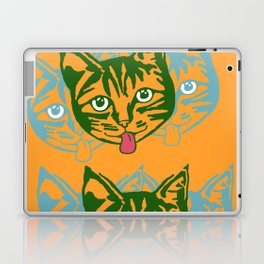 Mollycat Orange Laptop & iPad Skin