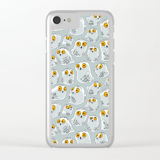 Snowy Owls. Clear iPhone Case
