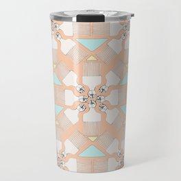 comb on kaleidoscope Travel Mug
