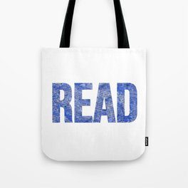 Read Dictionary Page Blue Tote Bag