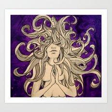 Medusa's Prayer  Art Print