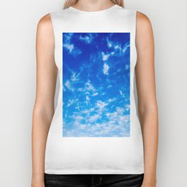 Whispy Clouds Biker Tank