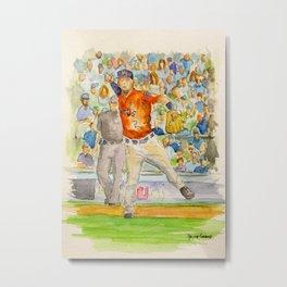 Alex Bregman - Astros Third Base Metal Print