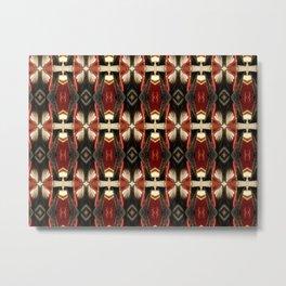 Rich Burgundy Striped Pattern A448b Metal Print