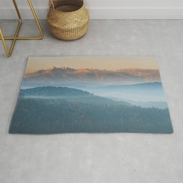 The mountains are calling #sunset Rug