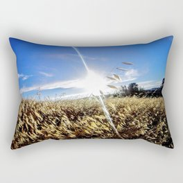 From the Perspective of a Blade of Grass Rectangular Pillow
