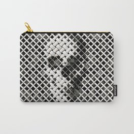 Wicker Skull Carry-All Pouch