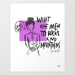 Darcy, Why? Art Print