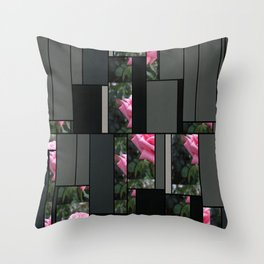 Pink Roses in Anzures 6 Art Rectangles 7 Throw Pillow