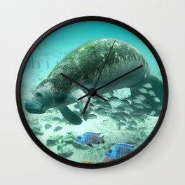Large  Manatee Wall Clock
