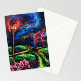 """""""The Crossroad"""" Painting Stationery Cards"""